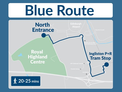 Tram Walking Route to RHC